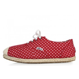 Toms Dots Red женские эспадрильи