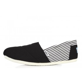 Toms Classics Stripes Black женские эспадрильи