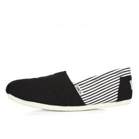 Toms Classics Stripes Black мужские эспадрильи