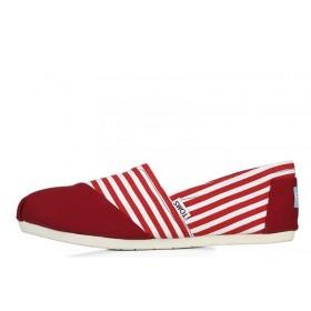 Toms Classics Stripe Red мужские эспадрильи