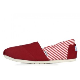 Toms Classics Stripes Red мужские эспадрильи