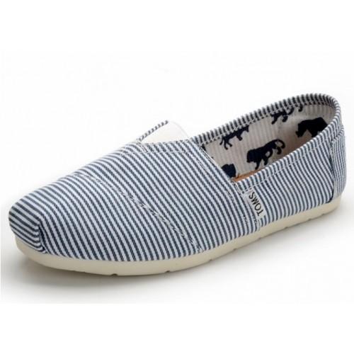 Эспадрильи женские Toms Classic White Blue