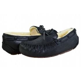 Женские мокасины UGG Australia Dakota Slipper Leather Black