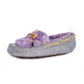 Женские мокасины UGG Australia Dakota Fur Slipper Grey Purple