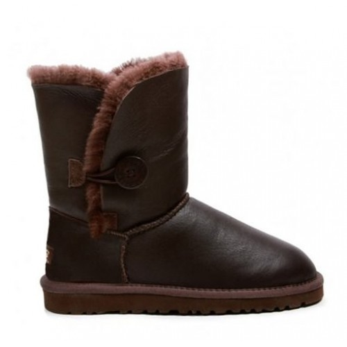 UGG Australia Bailey Button Metallic Chocolate женские угги