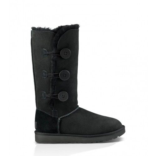 UGG Australia Bailey Button Triplet Black женские Угги