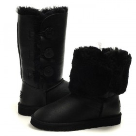 UGG Australia Bailey Button Triplet Bomber Black женские Угги