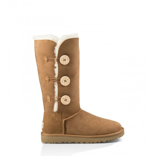 UGG Australia Bailey Button Triplet Chestnut женские Угги