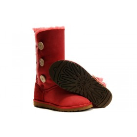UGG Australia Bailey Button Triplet Red женские Угги