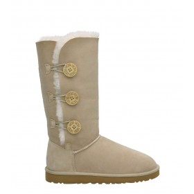 UGG Australia Bailey Button Triplet Sand женские Угги