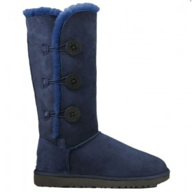 UGG Australia Bailey Button Triplet Blue женские Угги