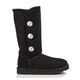 UGG Australia Bailey Button Triplet Bling Black женские Угги