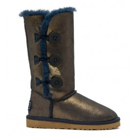UGG Australia Bailey Button Triplet Blue Gold женские Угги