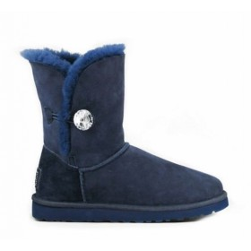 UGG Australia Bailey Button Bling Blue женские угги