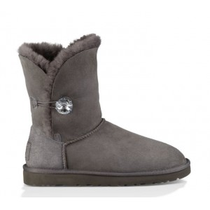 UGG Australia Bailey Button Bling Grey женские угги