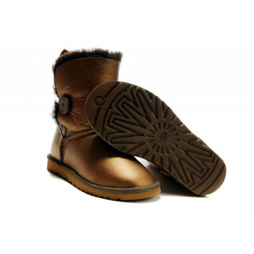 UGG Australia Bailey Button Bomber Bronz женские Угги