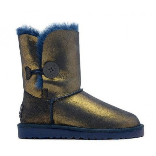 UGG Australia Bailey Button Bomber Bronz Blue женские Угги
