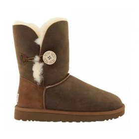 UGG Australia Bailey Button Bomber Chocolate женские угги
