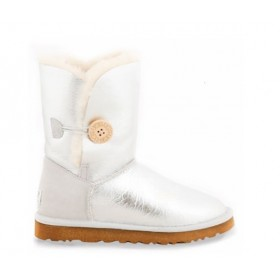 UGG Australia Bailey Button Metallic Silver женские угги
