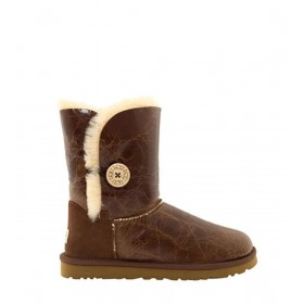 UGG Bailey Button Krinkle Chestnut женские угги