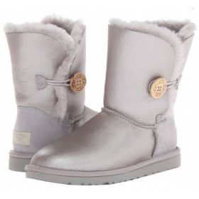 UGG Australia Bailey Button Metallic Milk Grey женские угги
