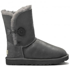 UGG Australia Bailey Button Metallic Grey женские угги
