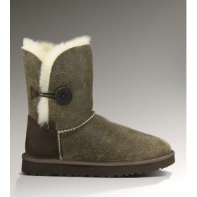 UGG Australia Bailey Button Bomber Grey Chocolate женские угги