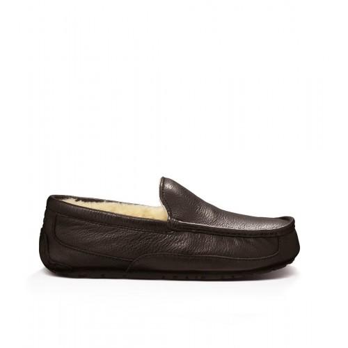 Мокасины UGG Australia Ascot Slipper Leather Brown мужские