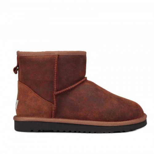 Мужские  угги UGG Australia Classic Mini Leather Chestnut M