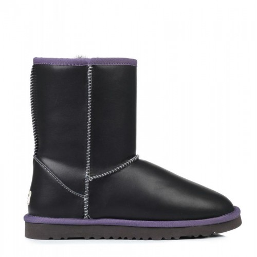 Мужские  угги UGG Australia Short Leather Grey M