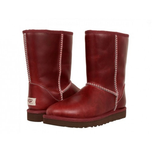 UGG Australia Classic Short Leather Red мужские угги