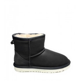 Женские угги UGG Australia Classic Mini Leather Black W