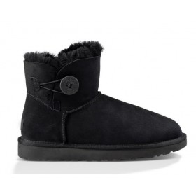 UGG Australia Bailey Button Mini Black женские угги