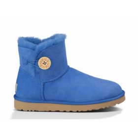 UGG Australia Bailey Button Mini Light Blue женские угги