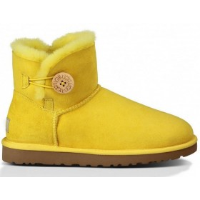 UGG Australia Bailey Button Mini Yellow женские угги