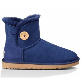 UGG Australia Bailey Button Mini Blue женские угги