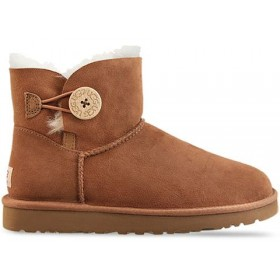 UGG Australia Bailey Button Mini Chestnut женские угги