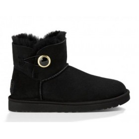 UGG Australia Bailey Button Mini Ornate Black женские угги