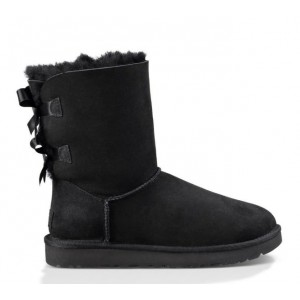 UGG Australia Bailey Bow Short Black женские угги