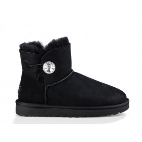 UGG Australia Bailey Button Mini Bling Black женские угги