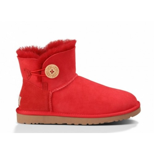 UGG Australia Bailey Button Mini Red женские угги