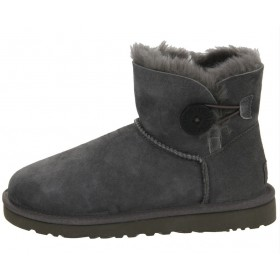 UGG Australia Bailey Button Mini Grey женские угги