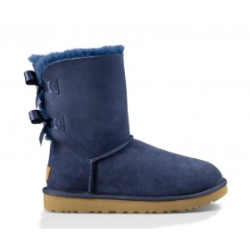 UGG Australia Bailey Bow Short Blue женские угги