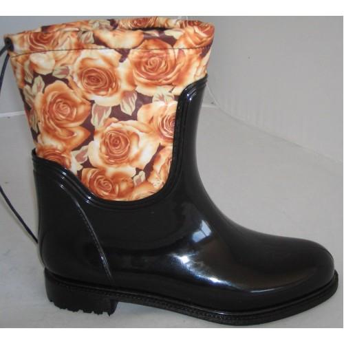 Женские резиновые сапоги Valex Roses Mini Brown