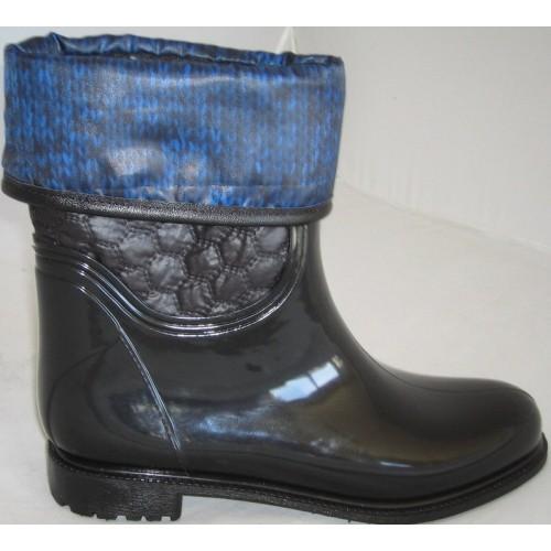 Женские резиновые сапоги Valex Pattern Braid Black Blue