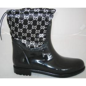 Резиновые сапоги Valex Gucci Black White Mini