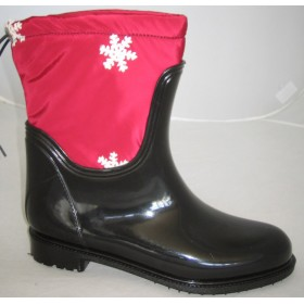 Резиновые сапоги Valex Classic Mini Red Snowflakes