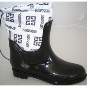 Резиновые сапоги Valex Givenchy Mini White Black