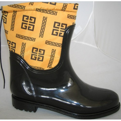 Женские резиновые сапоги Valex Givenchy Mini Yellow