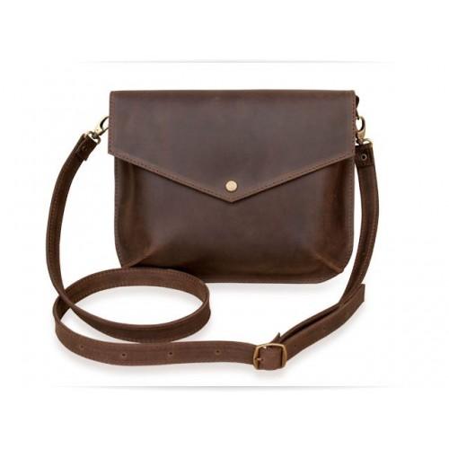 Wellbags Flapbag Mini Brown кожаная сумка